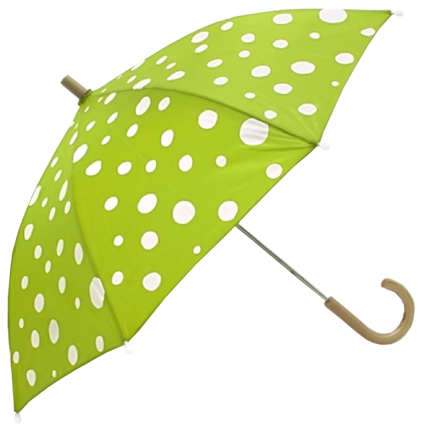 White Dotted Green Umbrella PNG SVG Clip arts