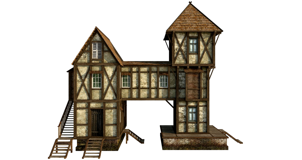 Wooden House PNG Free Download SVG Clip arts