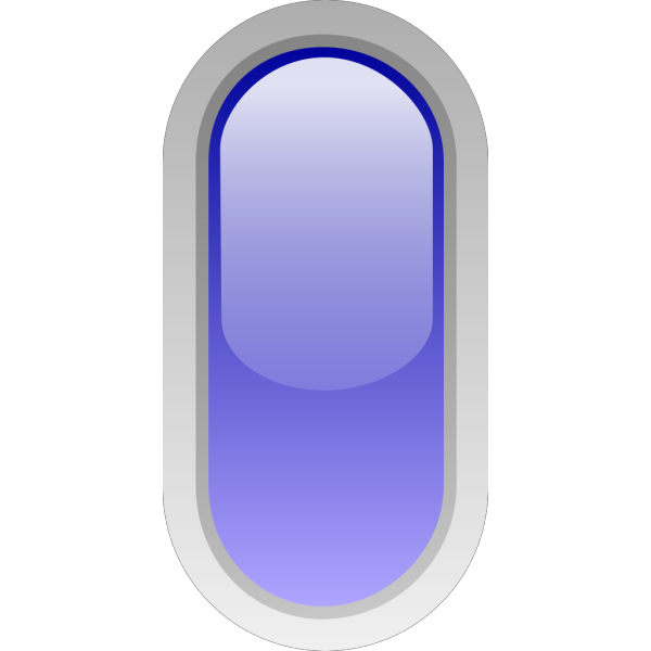 Led Rounded V (blue) PNG Clip art