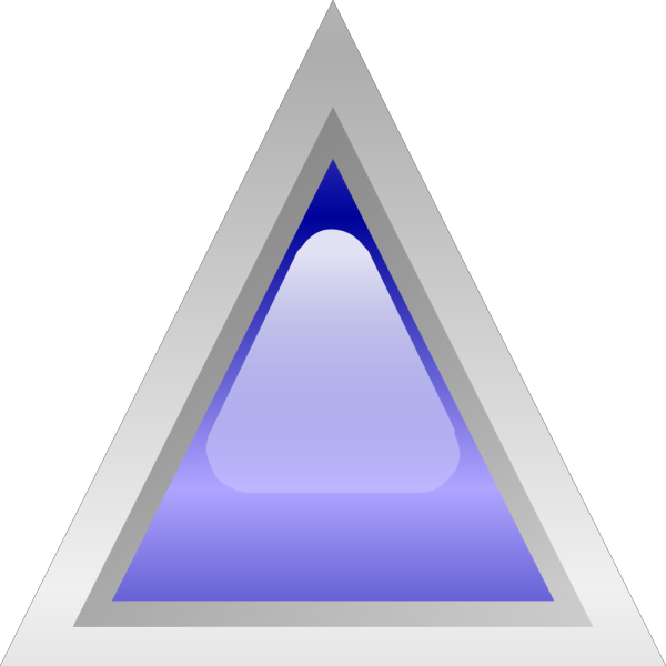 Led Triangular 1 (blue) PNG Clip art