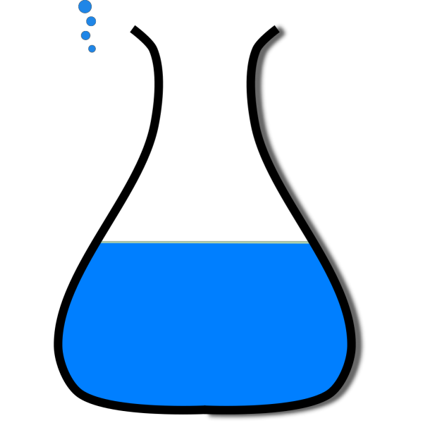 Chem Flask Blue PNG images