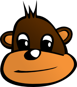 Comic Monkey Head PNG images