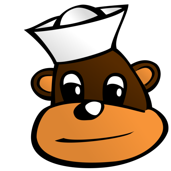 Monkey With Sailor Hat PNG Clip art