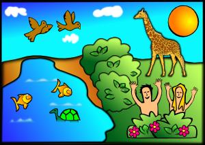 Complete Creation Scene PNG Clip art