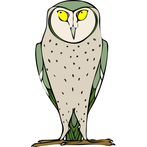 Green And Gray Owl PNG Clip art