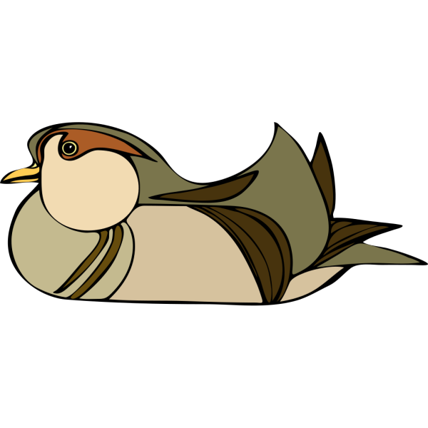 Swimming Brown Duck PNG Clip art