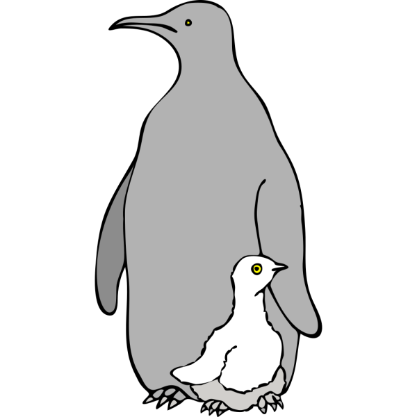 One Colored Penguins PNG images