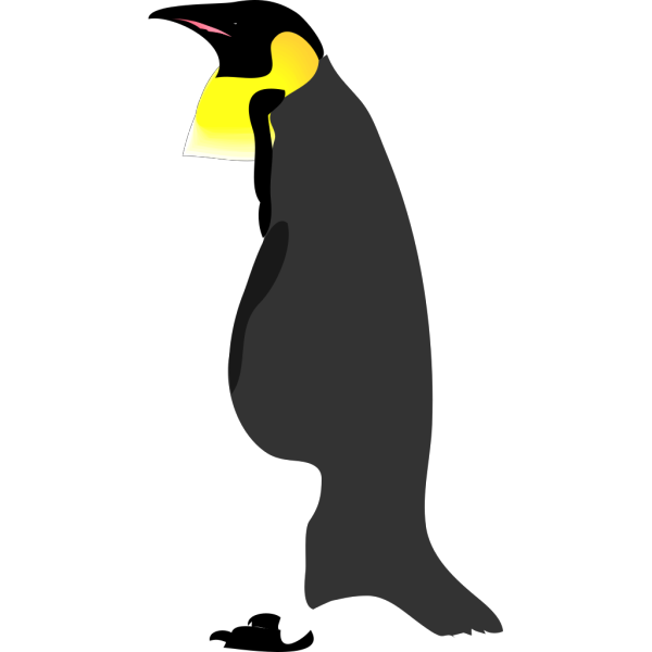 Penguin Standing To The Other Side PNG Clip art