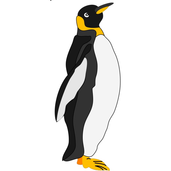 Penguin Standing To The Side PNG Clip art