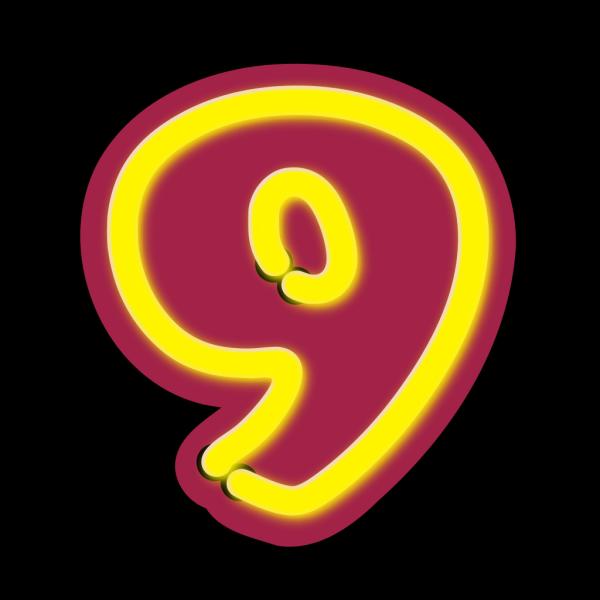 Number Nine PNG Clip art