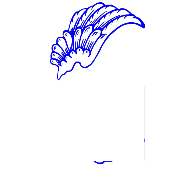 Blue Wing PNG Clip art