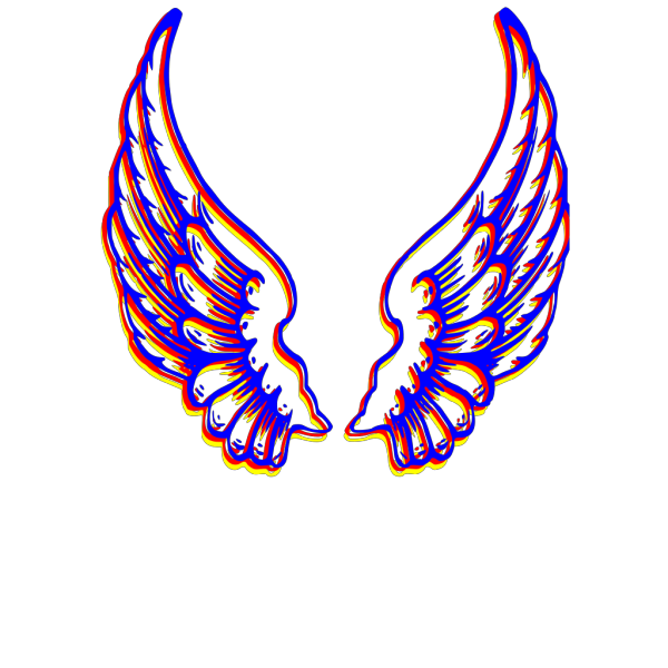 Colored Wings PNG Clip art