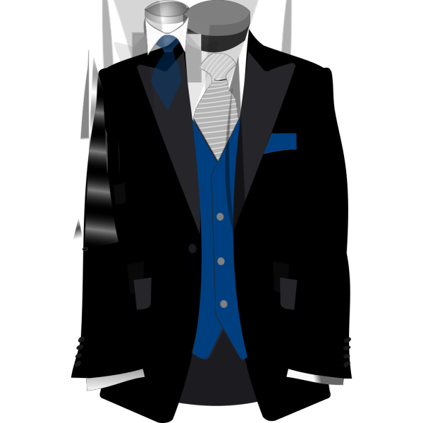 Blue And Black Suit PNG images