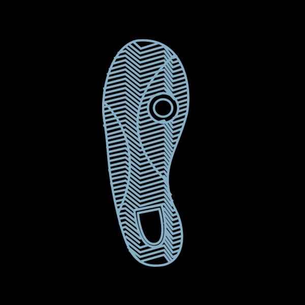 Blue Foot Prints PNG Clip art