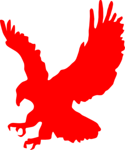 Blue Eagle Wing With Softball PNG Clip art