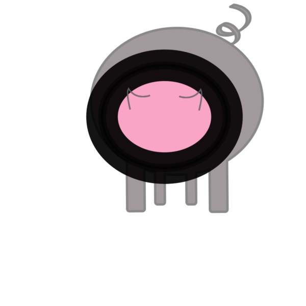 Simple Pig Art PNG Clip art