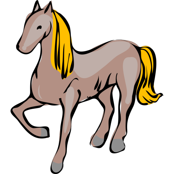 Posing Horse PNG images