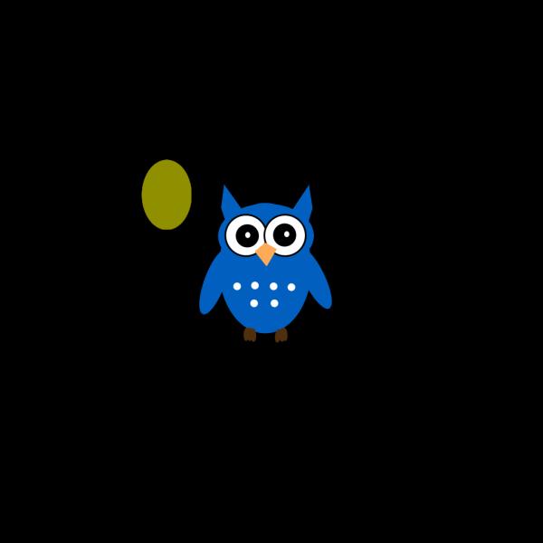 Blue Owl E PNG Clip art