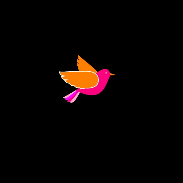 Pink Bird Left PNG Clip art