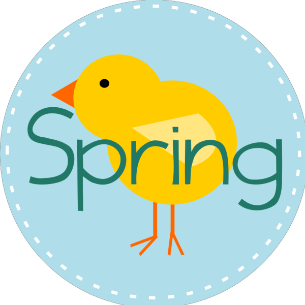 Spring Is Here Circle Blue PNG images