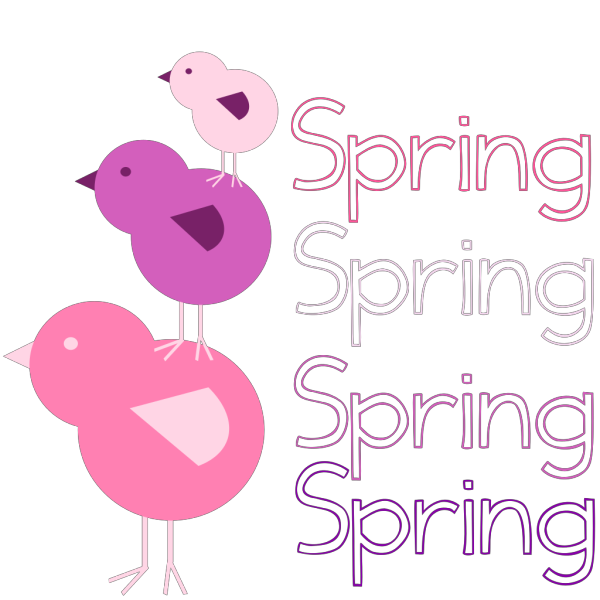 Spring And Birds Multi Colors PNG Clip art