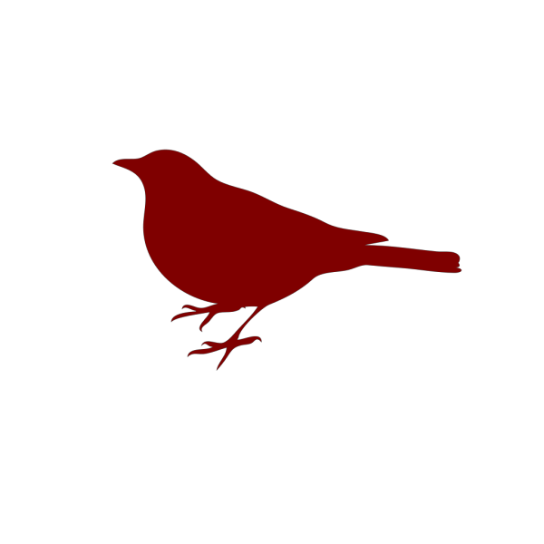 Bird Silhouette Red PNG Clip art