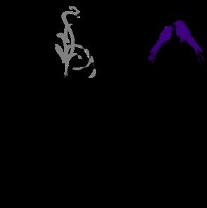 Birds On A Branch Black/grey PNG Clip art