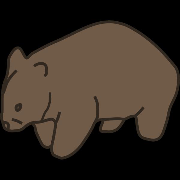 Wombat PNG Clip art