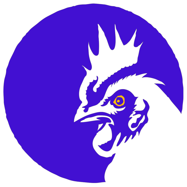 Blue Rooster 3 PNG Clip art