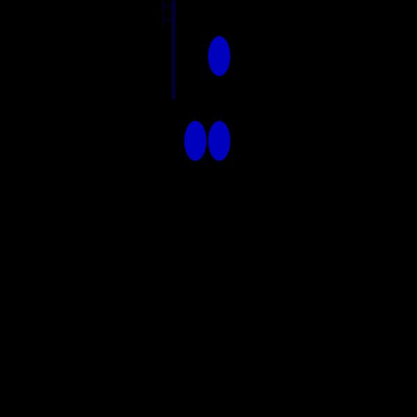 Blue Mono Pole PNG Clip art