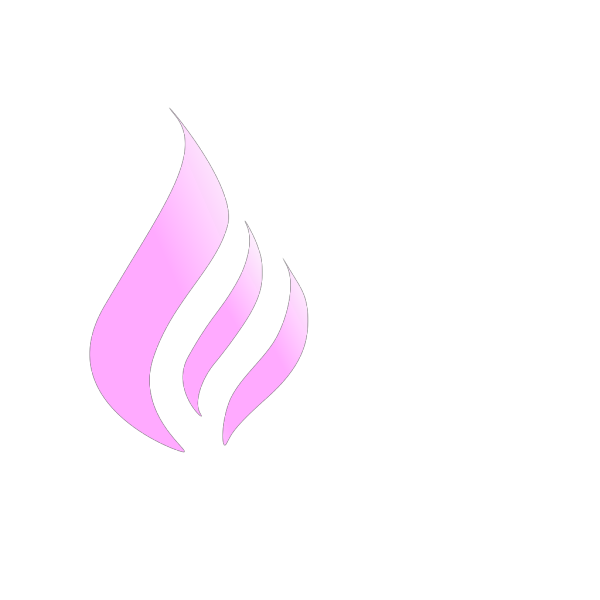 Blue Flame Simple Pink White PNG Clip art