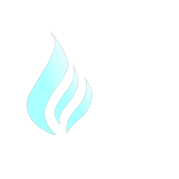 Flame simple. Blue white png svg