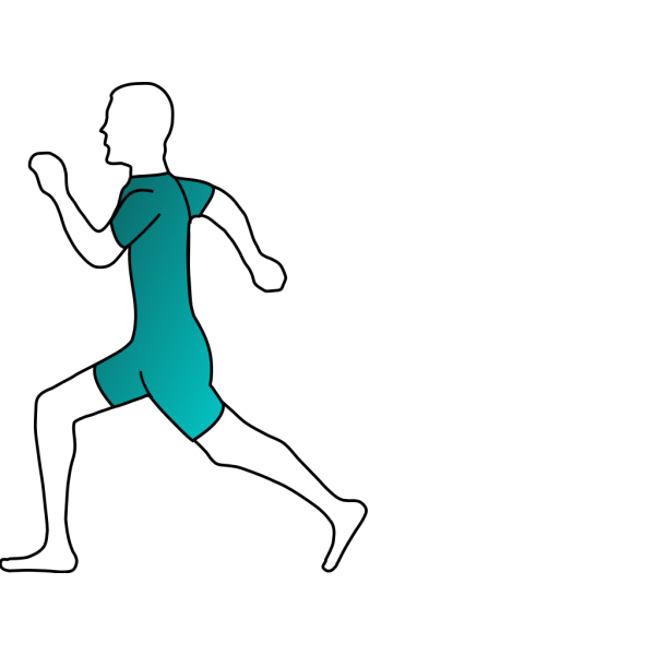 Runner Green And Blue PNG icons