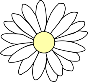 Daisy Outline PNG Clip art