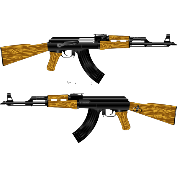 Ak Rifle Silhouette PNG images