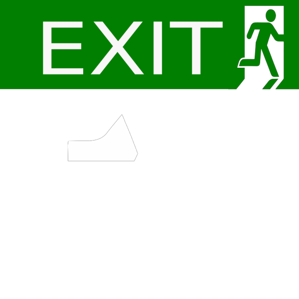 No Exit Sign PNG Clip art