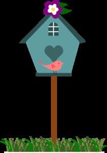 Birdhouse With Bird PNG Clip art