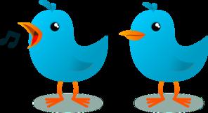Twitter Bird Mascot PNG Clip art