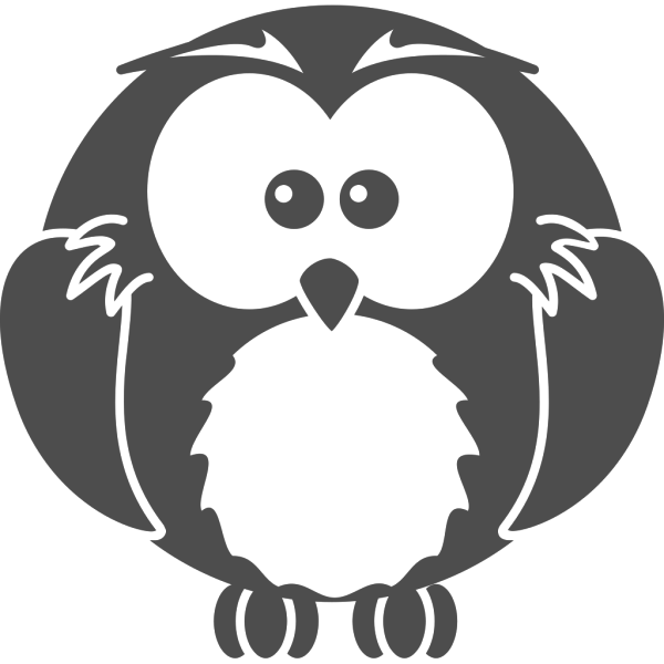 Black And White Owl PNG Clip art