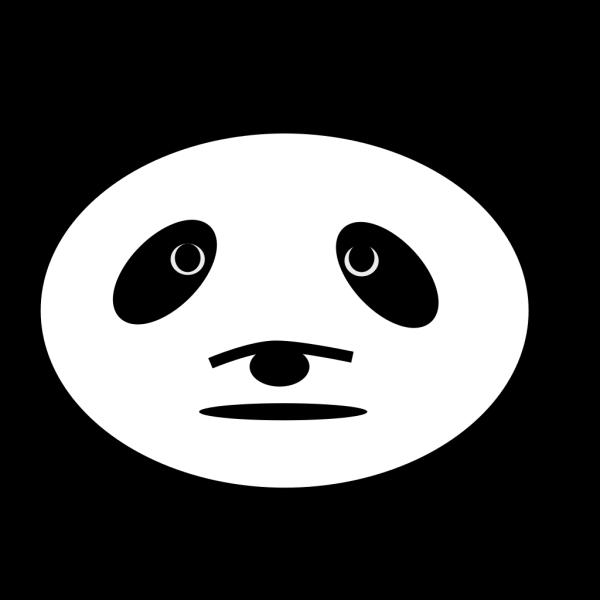Sad Panda Bear PNG Clip art