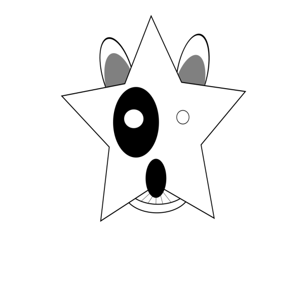 Star Bullterrier Head PNG images