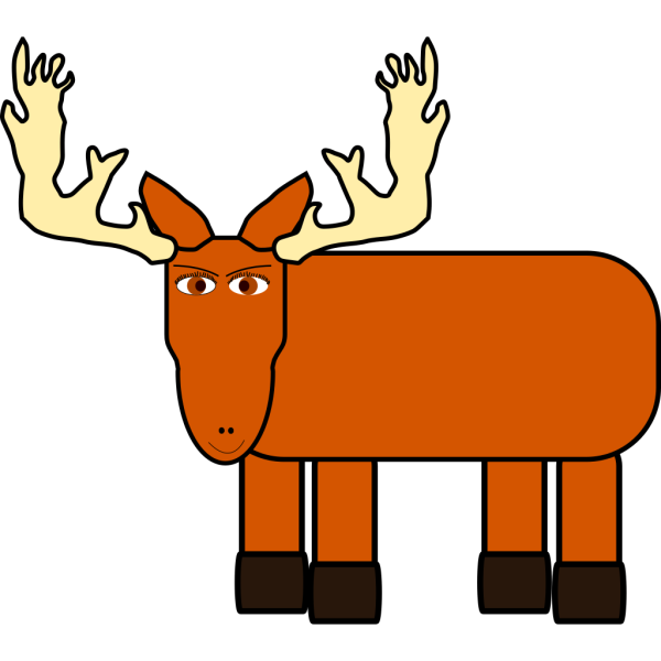 Cartoon Moose PNG images