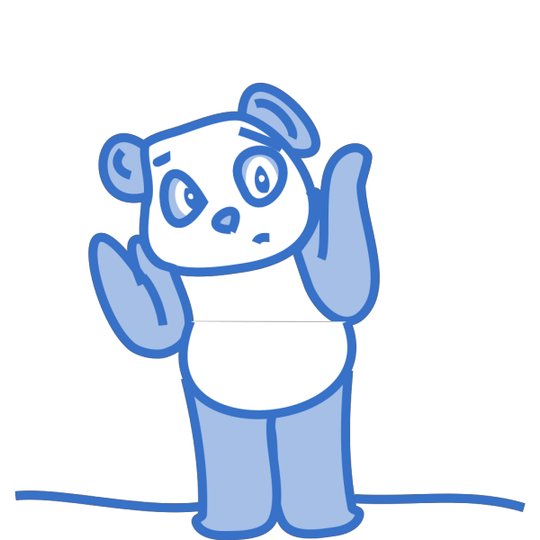 Confused Panda PNG images