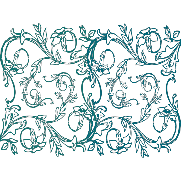 Blue Flower Decor PNG Clip art