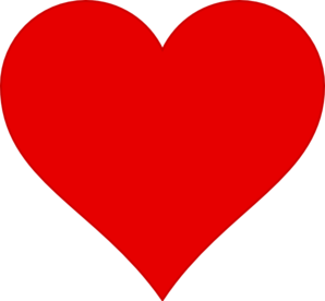 Red Heart With Blank Blue Ribbon PNG Clip art