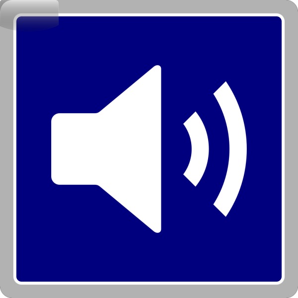 Blue Audio Icon PNG icons