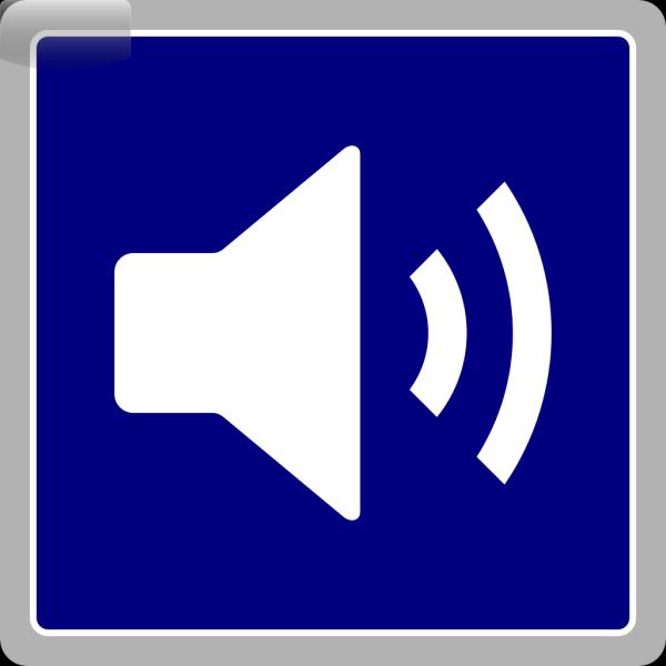 Blue Audio Icon PNG Clip art