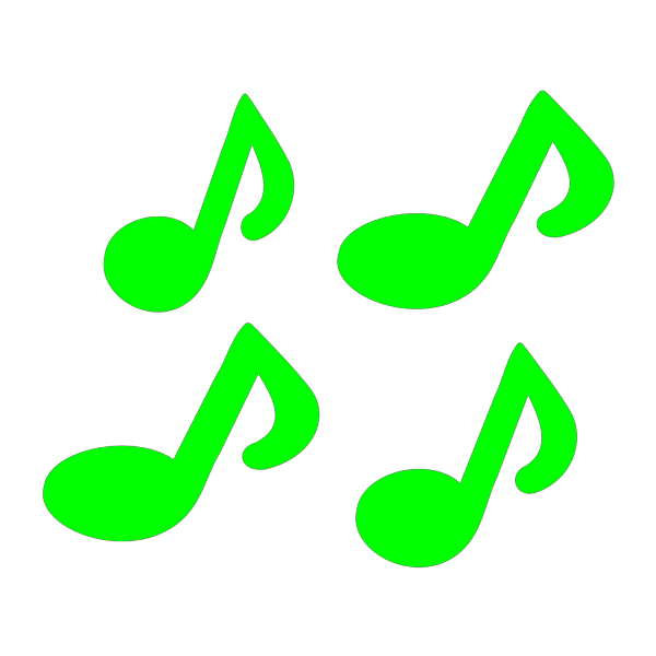 Blue Music Note PNG icons