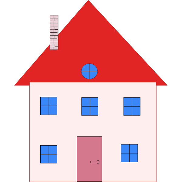 Pink And Red House PNG Clip art