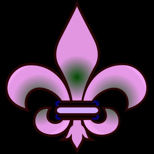 Fleur De Lis Taupe PNG images